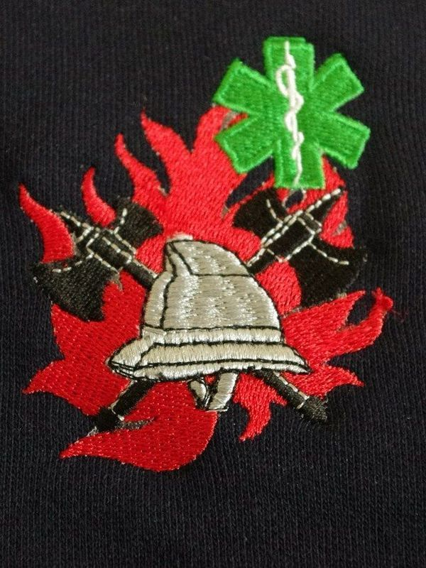 Sweater met logo BW/verpleegk (ronde hals)
