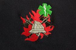 brandweer T-shirt met geborduurd logo BW-verpleegk.