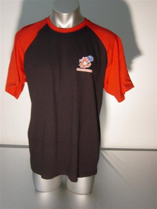 T-shirt 2 kleurig met brandweer- ambulance logo