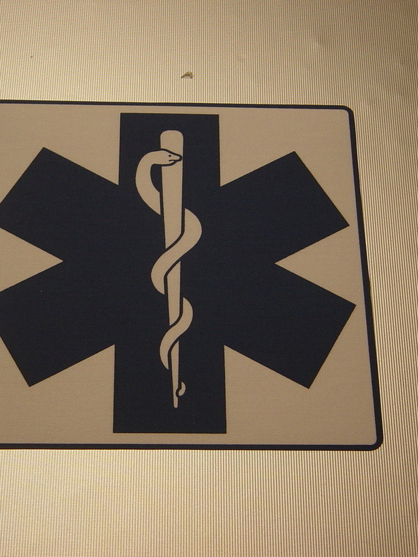 rugkenteken ambulancier
