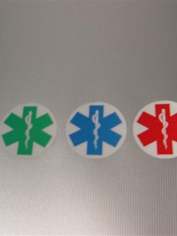 Sticker Star of life niet uitgesneden 3cm