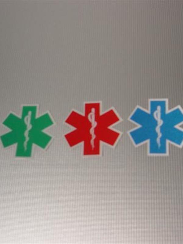 Sticker Star of life uitgesneden 3 cm