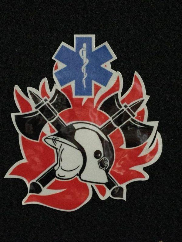 Sticker brandweer/ambulancier nieuw