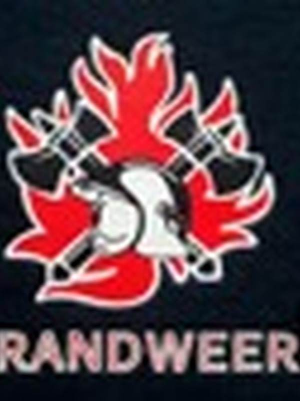 Brandweer T-shirt met logo en zonder rode streep