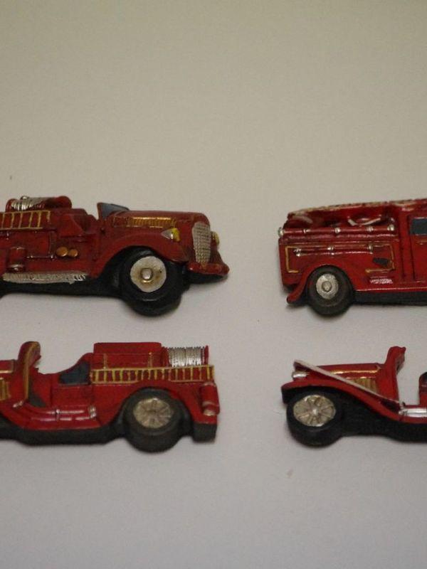 Set van 4 brandweermagneetjes