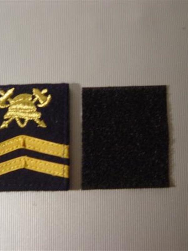 graadaanduiding met velcro 1ste sergeant