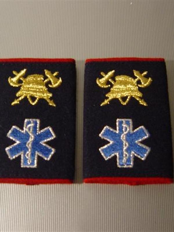 passanten brandweerman-ambulancier geborduurd