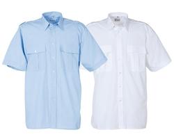 uniformhemd lange mouw wit of licht-blauw