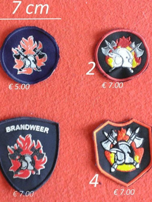 badges brandweer model 4