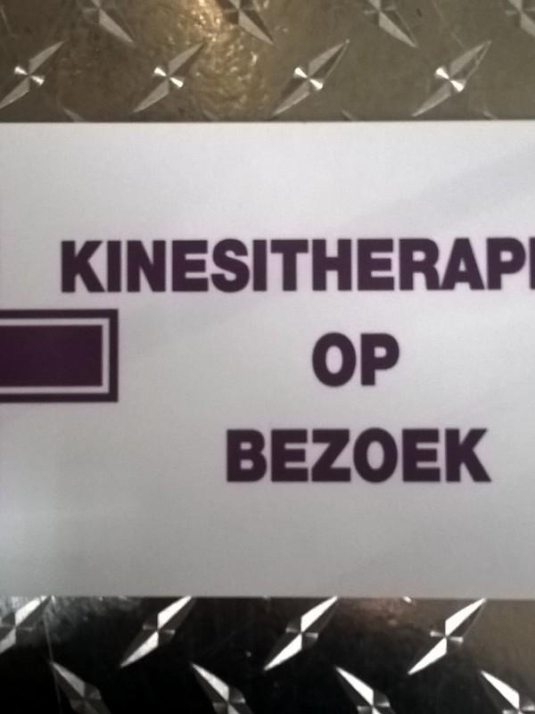 raamplaatje kinesitherapeut op bezoek