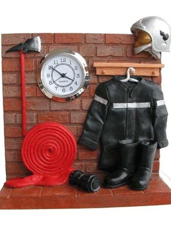 klokje op kapstok brandweer beeldje