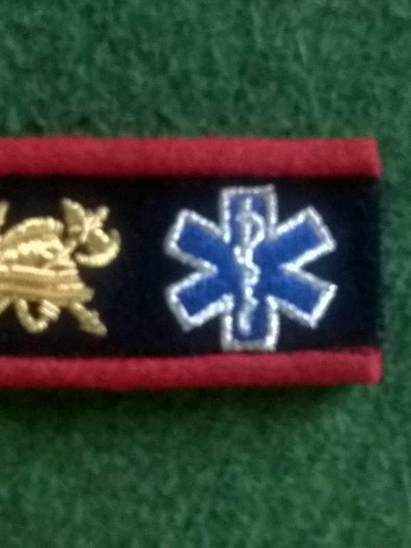 langwerpige graadaanduiding brandweerman ambulancier