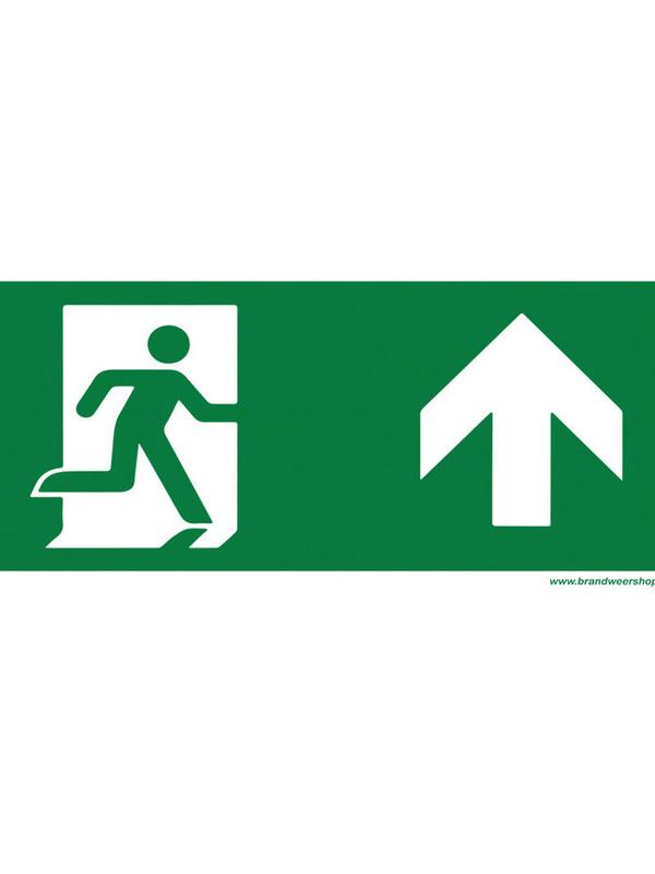 pictogram vluchtweg pvc 15/30 cm pijl op