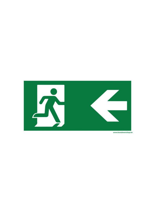 pictogram vluchtweg 15/30 pvc links