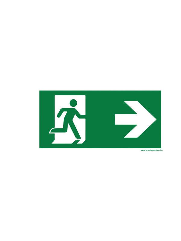 pictogram vluchtweg pijl Rechts