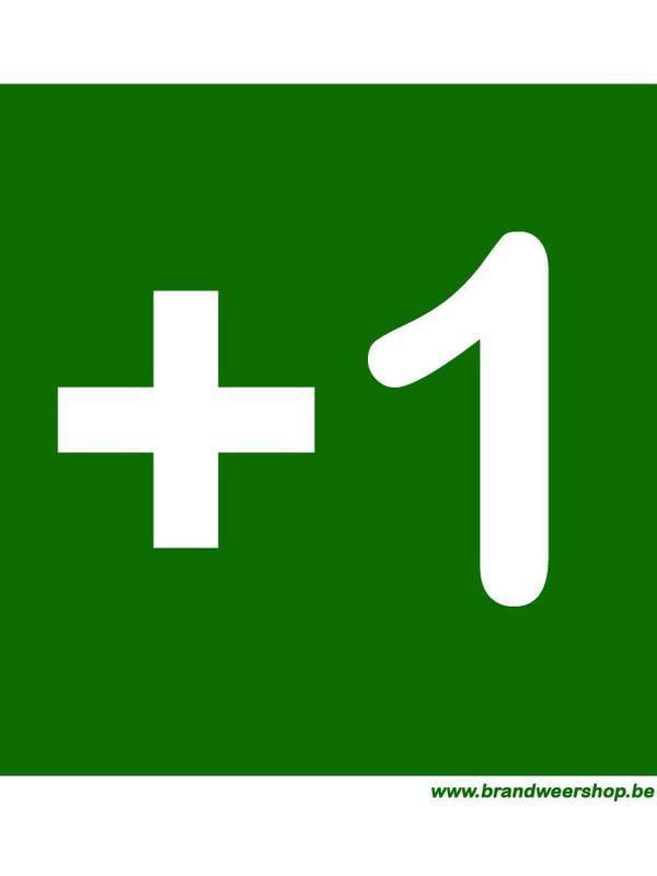 pictogram verdiepingsaanduiding pvc 15/15cm verdiep 1
