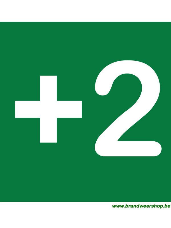 pictogram verdiepingsaanduiding pvc 15/15 cm verdiep 2