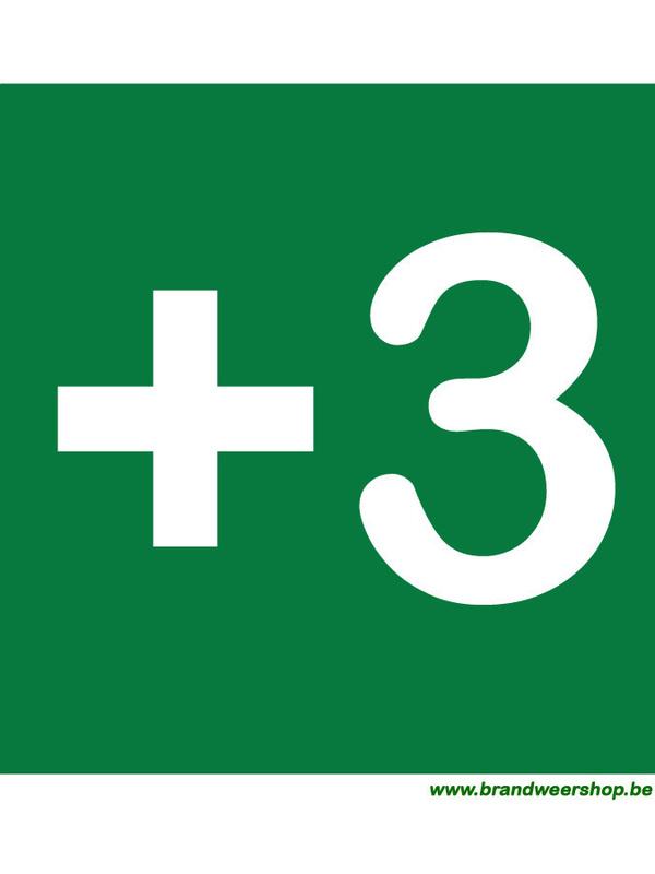 pictogram verdiepingsaanduiding pvc 15/15 cm verdiep 3