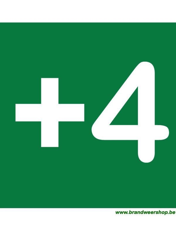 pictogram verdiepingsaanduiding pvc 15/15 cm verdiep 4