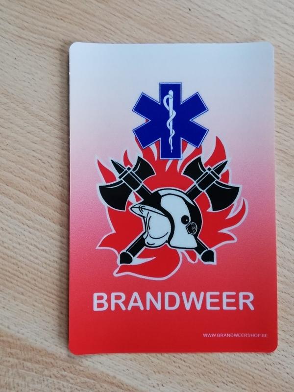 Afneembare statische sticker brandweer ambulance 5 stuks