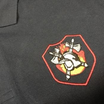 brandweerpolo met geborduurd badge logo