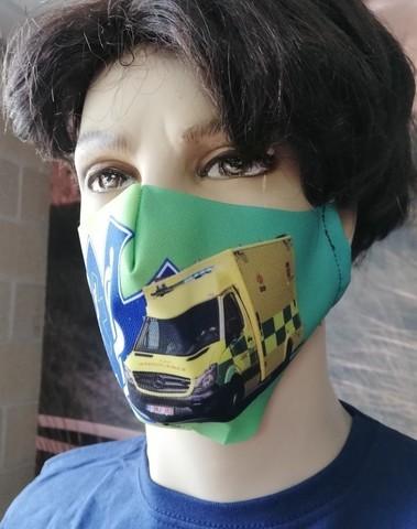 mondmasker ambulance decoratie