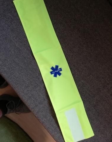 armband fluo met geborduurd star of life