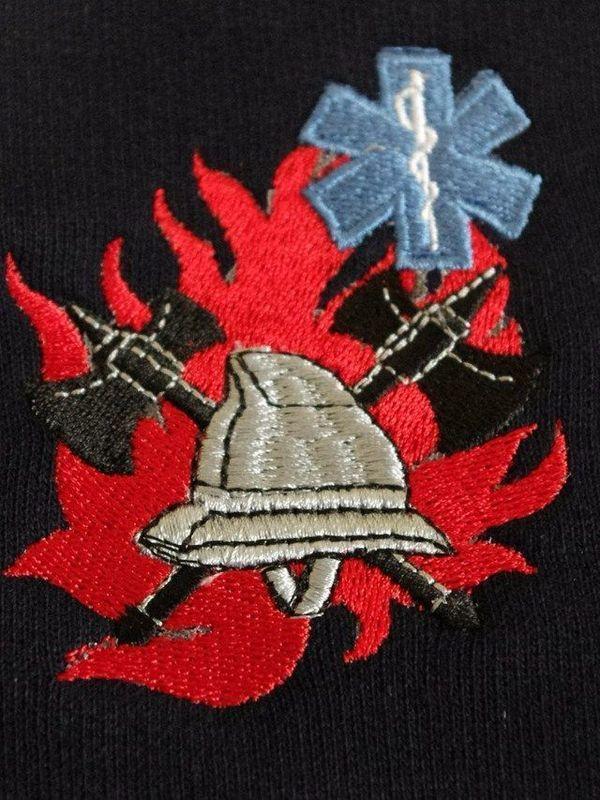 polosweater met geborduurd logo BW/ambulancier