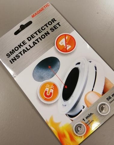 set van 3 stuks rookmelder 10 jaar fsm-124 met gratis magneetbevestigingen