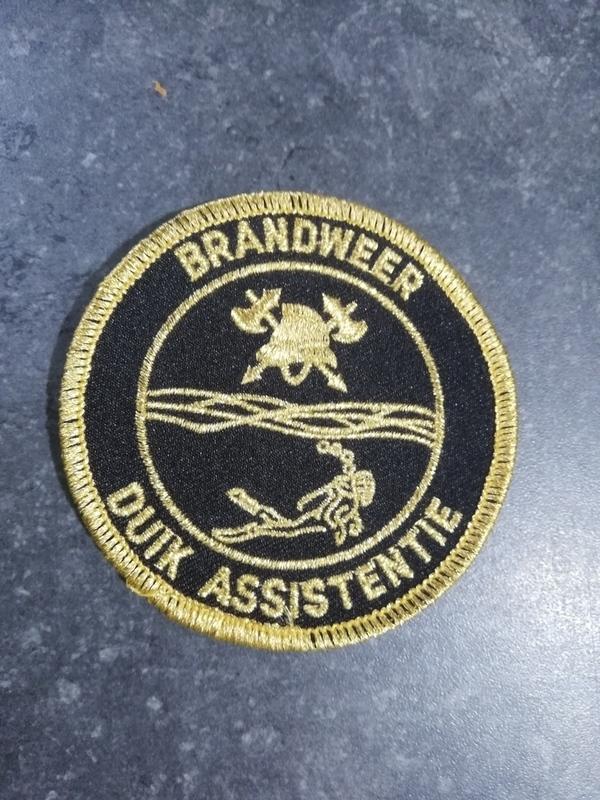 Badge brandweerduiker 7 cm